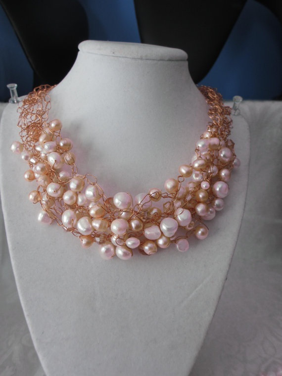 Copper and Peach by WolfCreekCreations on Etsy, $50.00