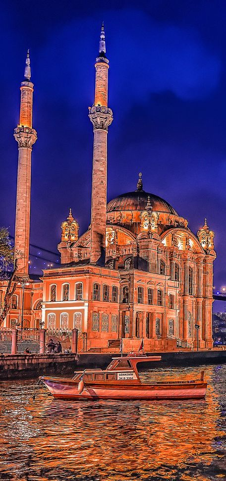 ORTAKOY MOSQUE : was built by (Armenian Architect) Nigogos BALYAN. in Baroque-style for Sultan Abdulmecit, between 1854-1855, in Istanbul. Nigogos new desing was tried in This Mosque and Dolmabahce Mosque. Sarah Allan