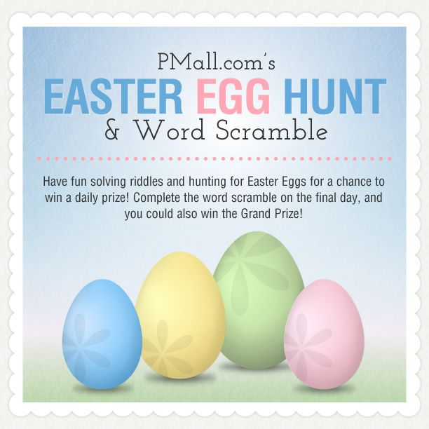 PersonalizationMall.com is having an awesome Easter Egg Hunt Contest! Each day they'll unveil a new riddle that will help you find the easter eggs that are hidden on their site ... this is so fun! you have to play!: Personalized Gifts, Gifts Personalizedgift