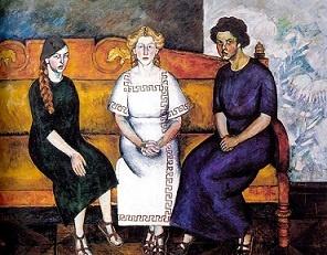 Three Sisters. Clothes In Books: Три Сестры, Машков Илья, Илья Иванович, Портрет Н Л, На Диване, Сестры На, Art, Three Sisters