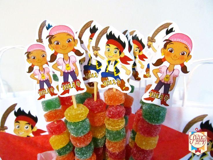Pinchos de Jake y los Piratas | Candy Bar Princesas de Disney y ...