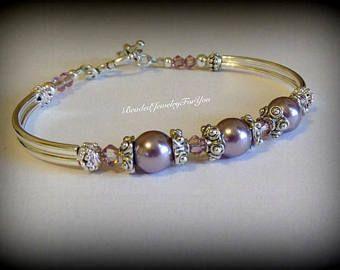 Pulsera de Dama de honor: Pulsera de perla de la boda joyería