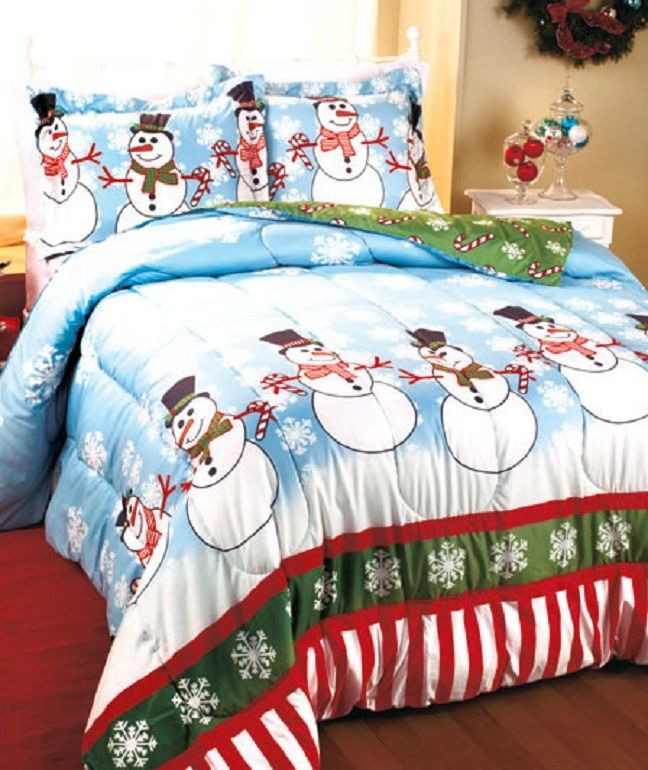 Frosty The Snowman Winter Comforter Bedspread Set Christmas