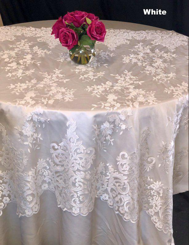 Lace Tablecloth Blush Overlay Wedding Decor Table Cloth Cake Pinterest