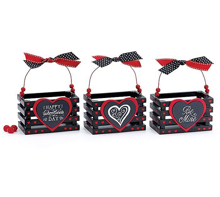 Fresh. Bold. Chalk up stylish fun this Valentine's Day! Fill these fun Mini Crates with sweet treats! #burtonandburton