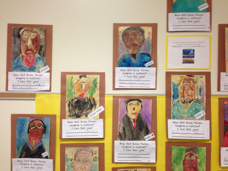 Black History Month! Rosa Parks Writing and Art project. Kindergarten kids amaze me!