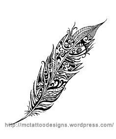 water feather tattoo - Google Search