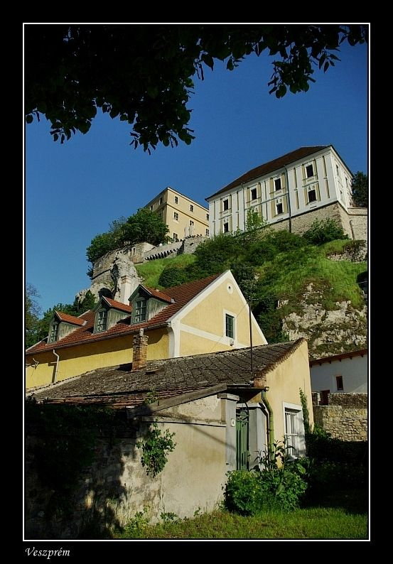 Old houses under the castle hill - Veszprem, Veszprem, Hungary