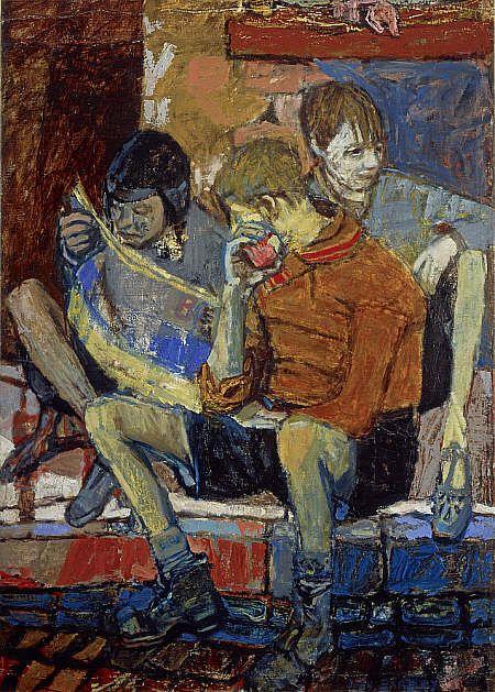 Street Kids - Joan Eardley 1949