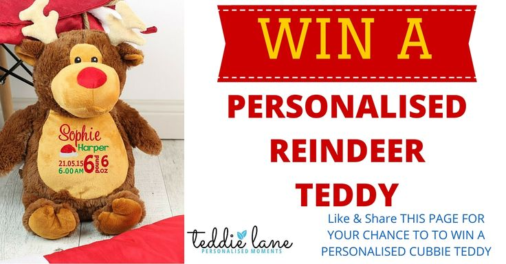 Like  Share THIS PAGE FOR YOUR CHANCE TO TO WIN A PERSONALISED TEDDY - One WINNER will be selected.