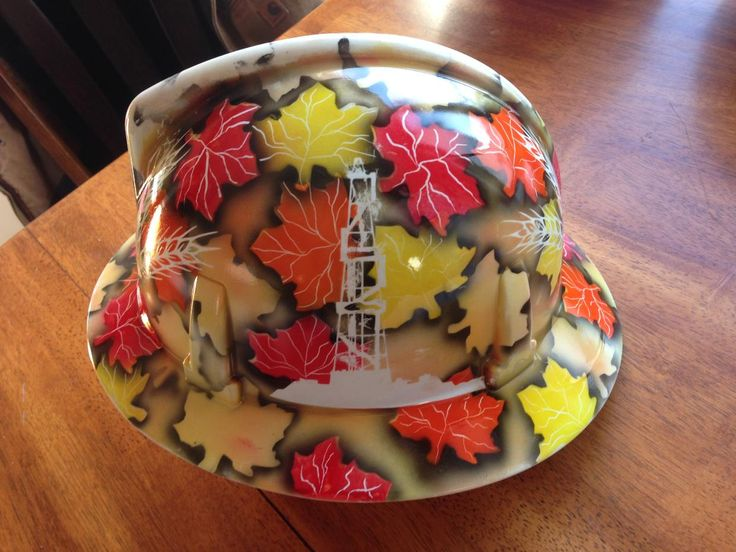 "A custom order for a ""Saskatchewan"" inspired hard hat!"