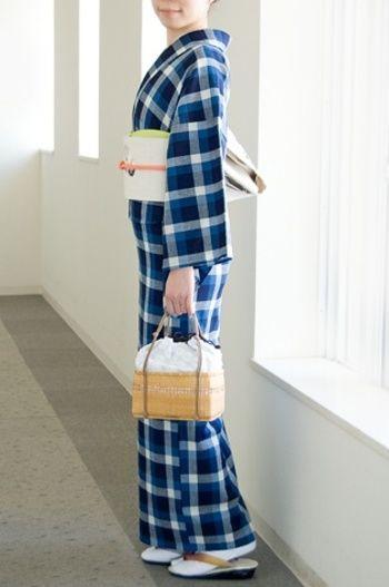 モダンで洋風なチェック柄ですが、伊勢木綿など、日本でも古くからこういう柄が生産されています。