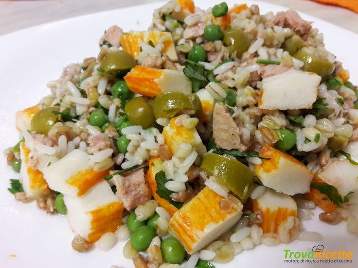 Insalata di cereali con surimi  #ricette #food #recipes
