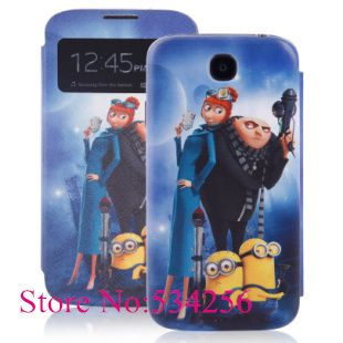 New Despicable Me Minions Smart Cover Case for Samsung Galaxy S4 i9500, Flip Case for Samsung Galaxy S4 i9500 with Retail Box $7.60