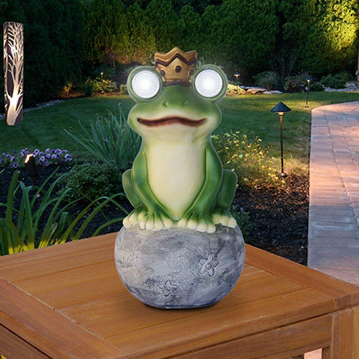 Perfect F r mehr Durchblick in lauen Sommern chten Eure BAUHAUS Solarleuchte Frog King