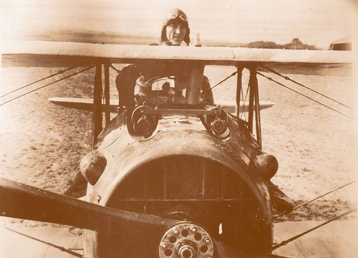 A very nice view of a Spad XIII fighter, the most advanced French fighter of WW1 and the only serious allied contender for the German Fokker D. VII. You can see the massive Hispano-Suiza engine 8B. A V8 able to deliver 220 horsepower and the 2 Vickers machineguns.