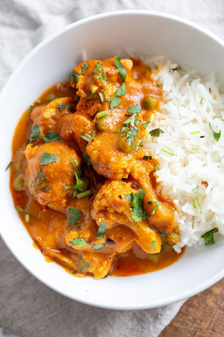 Vegan Cauliflower Pea Curry 1 Pot Gobi Matar Recipe Vegan Cauliflower Curry Recipes Curry
