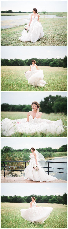 Ranch bridal portraits - bridal photos - Allure Wedding Gown / Allure Wedding Dress - Pink peony bouquet - Adria Lea Photography