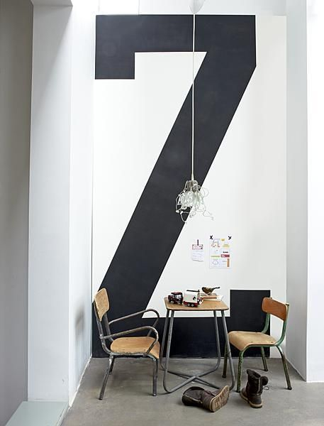 make a bold statement and monogram your wall!Giants Letters, Ideas, Big Letters, Home Interiors, Offices Design, Architecture Interiors, Design Interiors, Interiors Design, Design Bedrooms