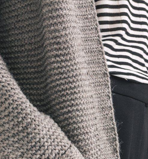 Long gilet en tricot Femme