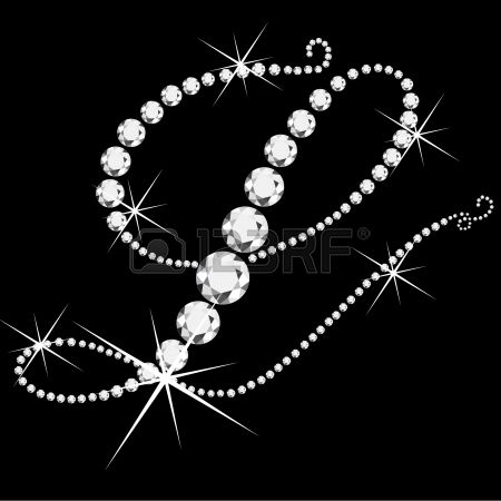 M Letter In Black Diamonds L italic letter...