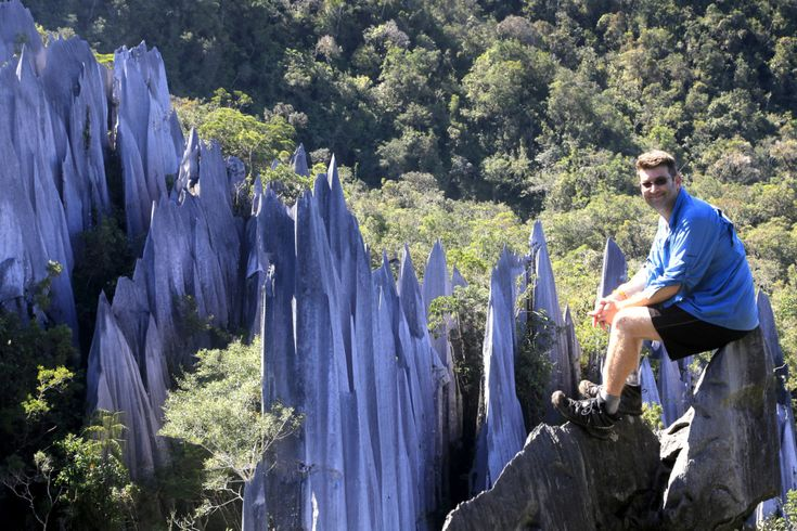 After a longboat trip and 11km trek we reach the Pinnacles in Mulu National Park, a cluster of 45m high limestone spikes