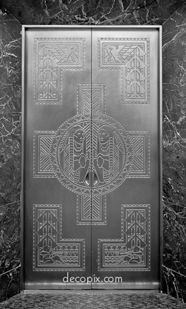 Doors, Penobscot Bldg., Detroit, Michigan - Art Deco.