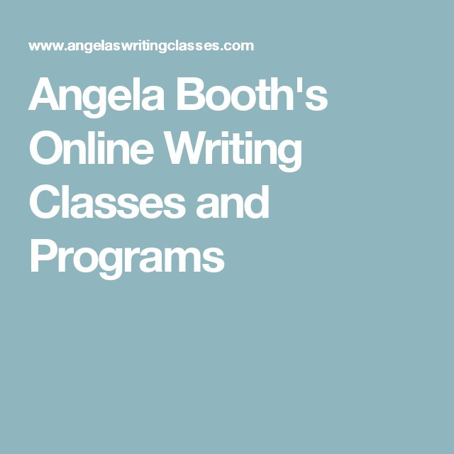Angela Booth's Online Writing Classes and Programs