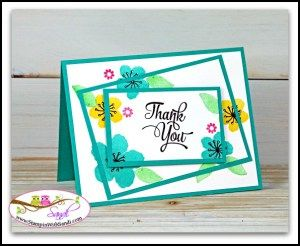 Twisted Triple Time card with Botanical Blooms by Sandi @ www.stampinwithsandi.com