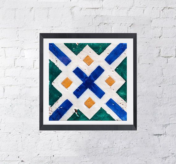 Azulejos X Portugal Design Lisbon Ceramic Art by KatieLuka on Etsy
