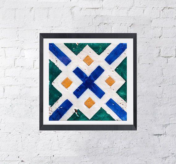 Azulejos X Portugal Design Lisbon Ceramic Art by KatieLuka on Etsy