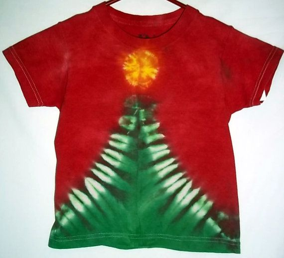 Tie Dye Christmas t shirt with Christmas Tree by ...