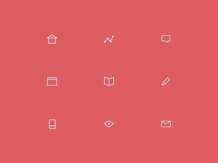 Minimal icon set by Vincent Tantardini