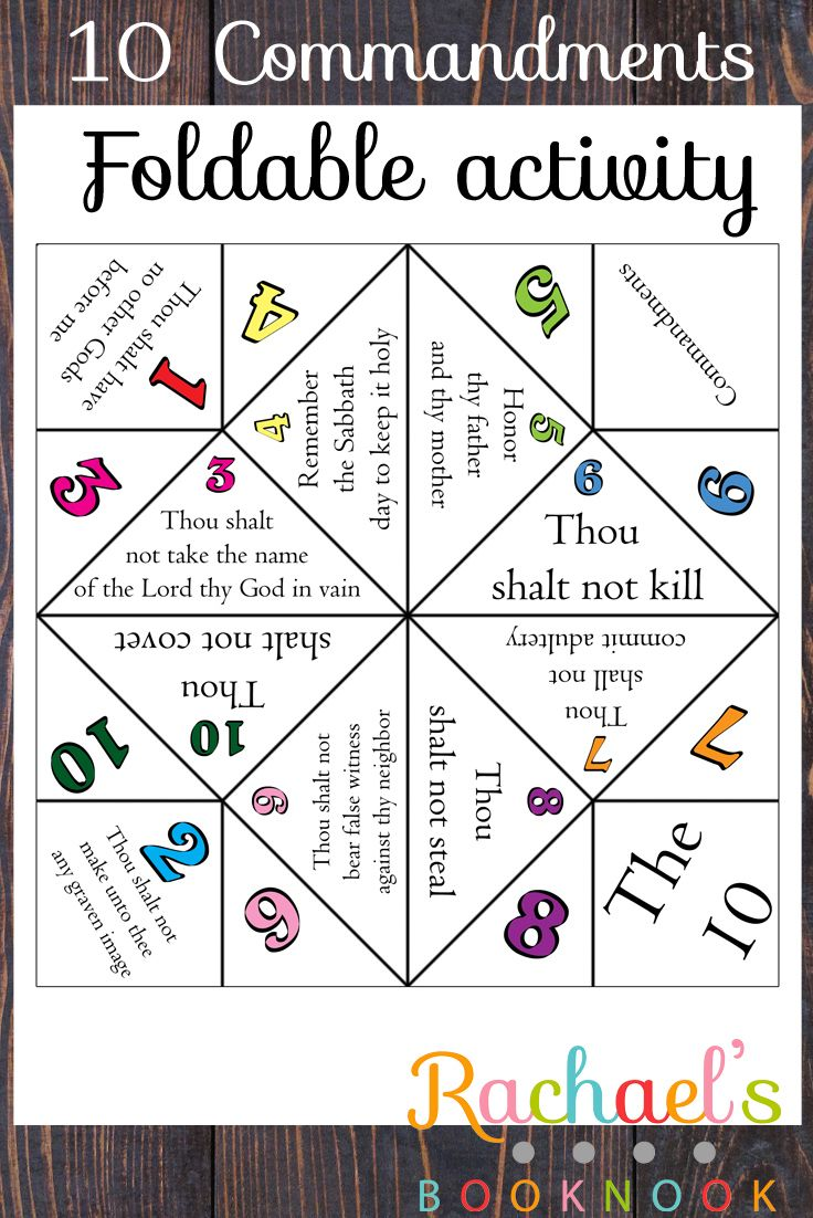 10 commandments flyer. Could use either in a lesson, or as a SM review activity.