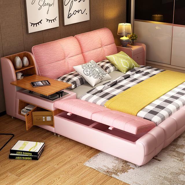 傳統大床已過時,今年流行的是榻榻米床,多功能讓