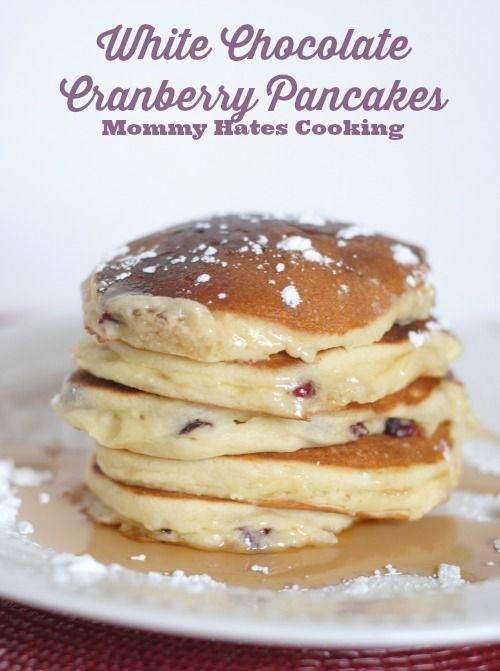 White Chocolate Chip Cranberry Pancakes