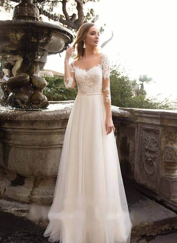 Svatební šaty s krajkou ze salonu Sofia  a5fb93755a