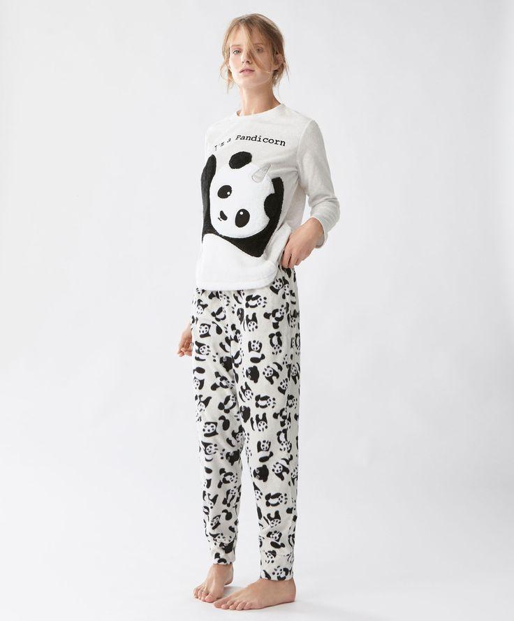Pantalón panda - Ver Todo - PIJAMAS | Oysho