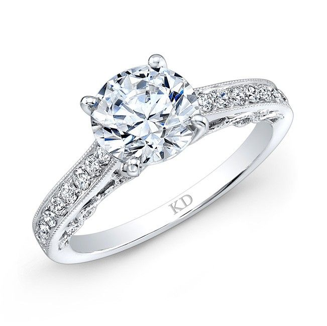 white gold prong diamond engagement ring bridal wedding engagement ido diamonds - Wedding Rings Houston