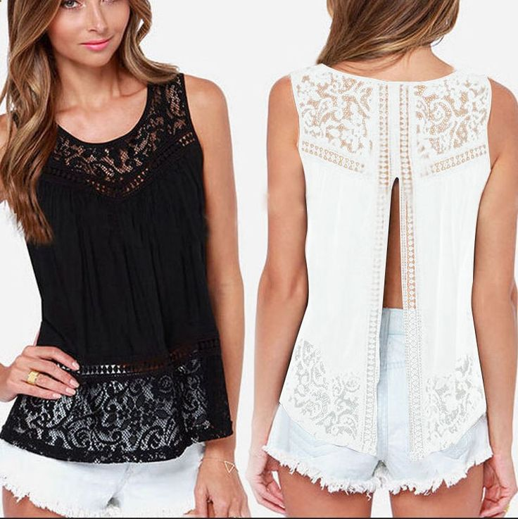 New Fashion Women Ladies Sleeveless Shirt Sexy V Neck Loose Chiffon Tops Blouse #DS #Blouse #Party