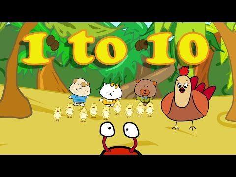 Canciones en inglés para niños   1-10 contar en Inglés - YouTube