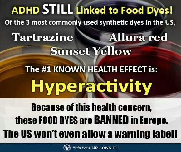 Food Dyes Linked To ADHD