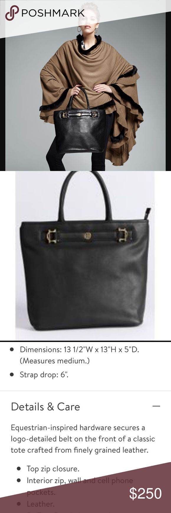 Tory Burch horsebit jaden pebbled leather tote Tory Burch horsebit jaden pebbled leather tote this bag is in really great condition minimal signs of wear very gently used Tory Burch Bags Totes