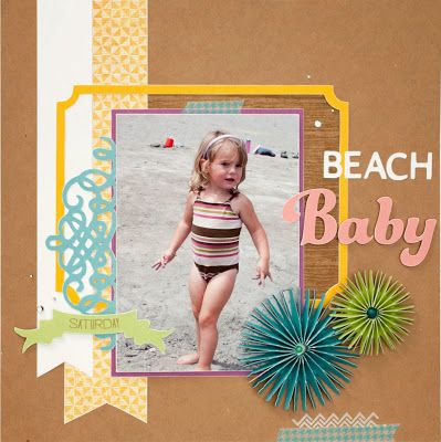 Beach Baby #scrapbook layout #CTMH