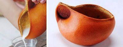 Si chiama Solskin Peel la linea di oggetti per la casa fatta di bucce d'arancia essiccate, del designer israeliano Ori Sonnenschein.