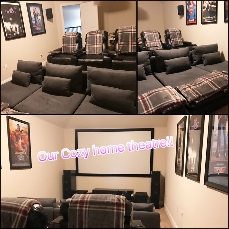 Cozy Home Theater: We Love Our Home Theatre, My Fav Is The Low Front Row