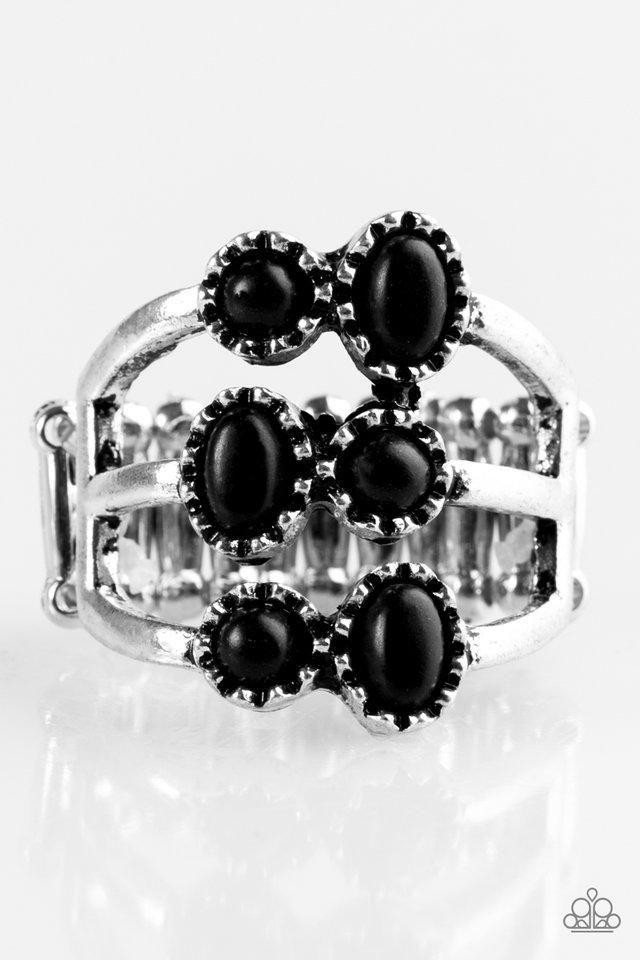 Paparazzi Sticks And Stonehenge Black Stone Silver Frame Ring In 2020 Black Rings Frame Ring Black Stone