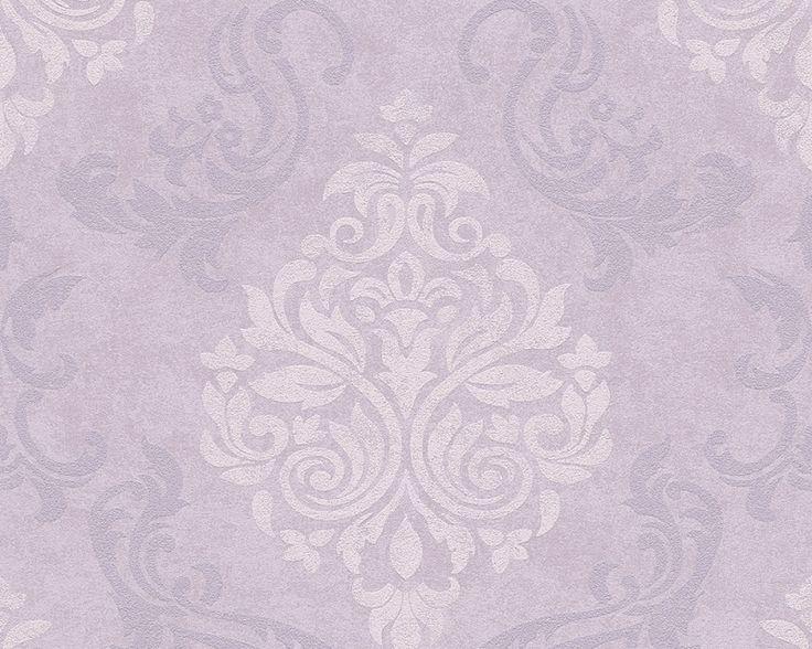 lila paars glitter barok behang 95372-2