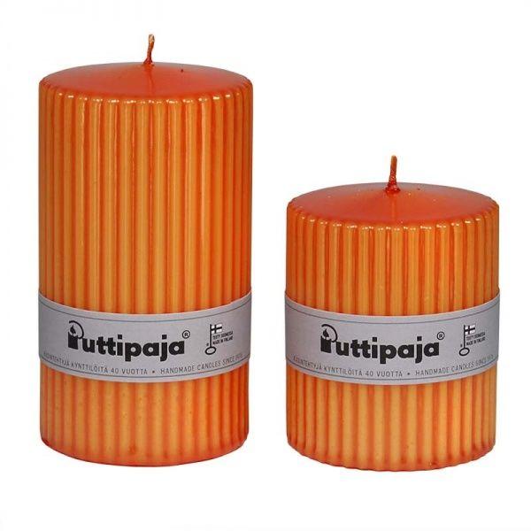 Metallivekkikynttilä, oranssi