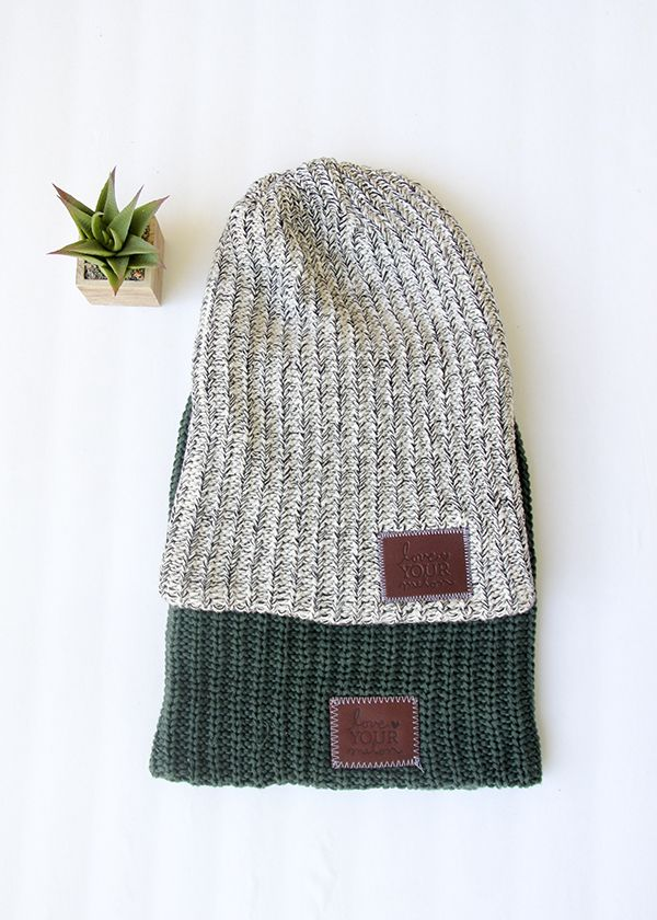 Love Your Melon beanies and hats. For every hat sold, they give one to a child battling cancer.